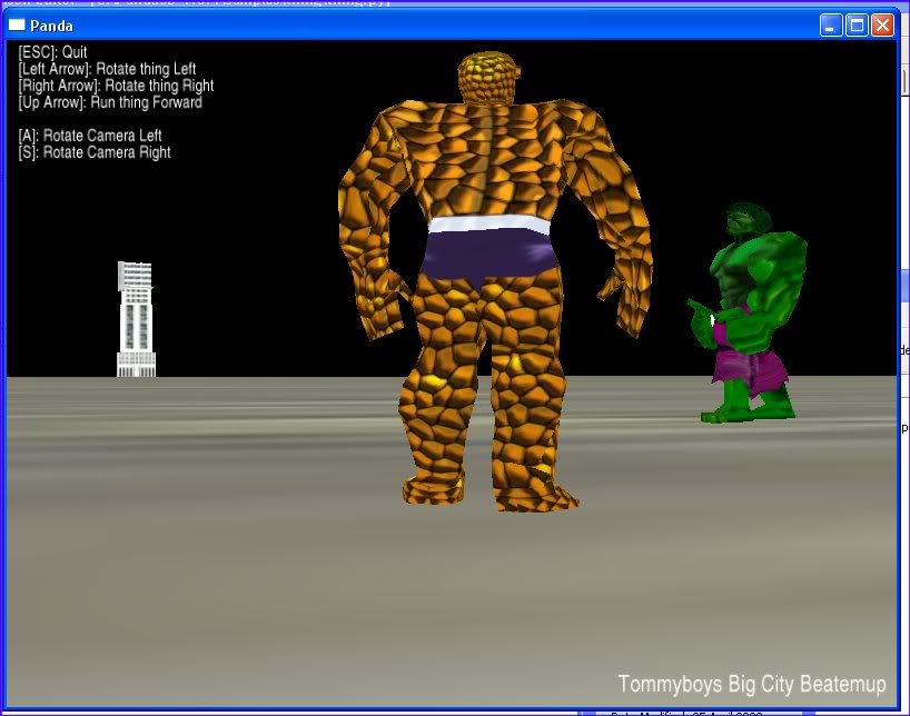 The Thing vs The Hulk in Panda 3D
